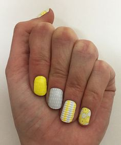 Like Jamberry Nails but Cheaper!  Yellow & Blue Two-Pack Nail Wrap Set #zulilyfinds