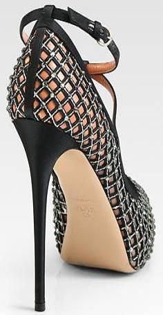 Valentino Crystal-Coated Mesh T-Strap Platform Pumps Dream Shoes, Crazy Shoes, Me Too Shoes, Hot Shoes, Shoes Heels, Stilettos, Fashion Shoes, Style Fashion, High Fashion