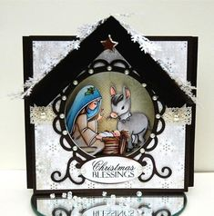 Sweet Nativity Aperture Christmas Card   One of the most beautiful faith cards. Make this handmade Christmas card for loved ones this year.