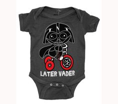 Buy Star Wars Darth Vader Later Movie Mini Fine Baby Creeper Romper Snapsuit at Wish - Shopping Made Fun Star Wars Baby Clothes, Cute Baby Clothes, Star Wars Onesie Baby, Baby Onesie, Baby Bodysuit, Disney Babys, Baby Disney, Disney Nursery, Cute Kids