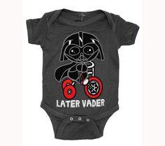 Buy Star Wars Darth Vader Later Movie Mini Fine Baby Creeper Romper Snapsuit at Wish - Shopping Made Fun Star Wars Baby Clothes, Cute Baby Clothes, Star Wars Onesie Baby, Baby Onesie, Baby Bodysuit, Scarlett, Baby Disney, Disney Jr, Disney Nursery