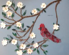 Quilled Dogwoods and Cardinal- Gr.6