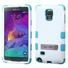 Insten Dual Layer Hybrid Stand Rubberized Hard Plastic PC/ Silicone Phone Case Cover For Samsung Galaxy Note 4