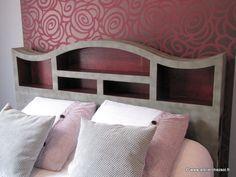 Patron de meuble en carton Tête de lit 2 personnes modèle Halba Atelier Chez Soi P23 - Créer ses meubles en carton