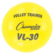 This durable lightweight training ball differs from normal balls in weight, size and softness. Unique hand sewn soft nylon cover provides a sting free surface-students are not afraid to hit them. An excellent training tool, Sof-Train balls have a high qua Volleyball Equipment, Volleyball Gear, Champion Sports, New Champion, Volleyball Accessories, Sports Training, Ballon, No Equipment Workout, Soccer Ball