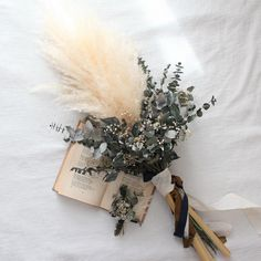 bouquet boutonniere set Rustic Flower Arrangements, Beautiful Flower Arrangements, Rustic Flowers, Beautiful Flowers, Pink Bouquet, Dried Flower Bouquet, Dried Flowers, Wedding Bouquets, Wedding Flowers