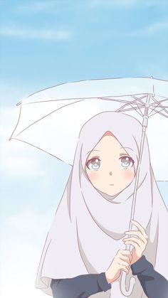 Cute Cartoon Pictures, Cute Cartoon Girl, Cartoon Profile Pictures, Cartoon Pics, Cute Wallpapers, Wallpaper Backgrounds, Anime Korea, Hijab Drawing, Islamic Cartoon