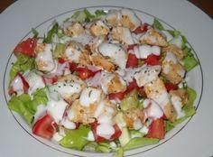 Salata cu piept de pui si sos de usturoi Bosnian Recipes, Chicken Recipes, Chicken Ideas, Cobb Salad, Salads, Recipies, Cooking Recipes, Food, Recipes