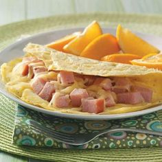 Ham and Swiss Omelet Recipe