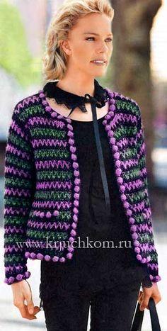 Irish crochet &: CROCET JACKET ... ЖАКЕТ КРЮЧКМ