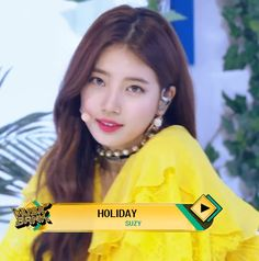 "Bae Suzy (수지) ""Holiday"" KBS 뮤직뱅크 Music Bank 2018"