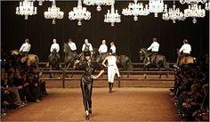 Equestrian runway show