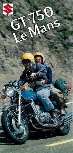 Visit the post for more. Suzuki Gt 750, Suzuki Bikes, Suzuki Cafe Racer, Suzuki Motorcycle, Motorcycle Posters, Motorcycle Types, Motorcycle Helmets, Retro Bike, Japanese Motorcycle