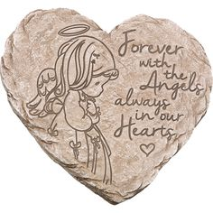 Find a memorial garden stone that features an angel in our unique selection of sympathy gifts, outdoor décor and more other gifts to commemorate all occasions. Easy Garden, Lawn And Garden, Angel Garden, Memorial Garden Stones, Heart Place, Bereavement Gift, Heart Crafts, Sympathy Gifts, Garden Gifts