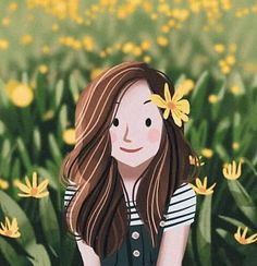 is such a cutie and is so super talented. I love portrait photographers and sometimes I can't help but to do a little… Cartoon Girl Images, Cartoon Girl Drawing, Cartoon Art Styles, Cartoon Drawings, Cute Drawings, Cute Illustration, Character Illustration, K Wallpaper, Digital Art Girl