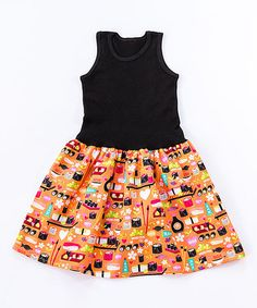 Love this Tangerine Sushi Lunch Dress - Infant, Toddler & Girls on #zulily! #zulilyfinds