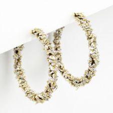 NEW TEN THOUSAND THINGS 18K Gold Keshi Pearl Studded Large Hoop Earrings