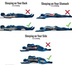 3 Best Sleeping Positions - All About Health Health Facts, Health Tips, Cat Health, Brain Health, Health And Wellbeing, Health Benefits, Healthy Sleeping Positions, Massage Dos, Spine Health