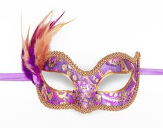 Purple And Gold Masquerade Mask    Venetian Style by SOFFITTA