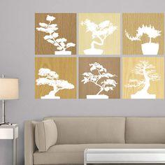 Create a calm space with Martha Stewart's bonsai wall art from @Fathead!