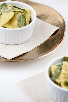 Maronen Ravioli selber machen Salbeibutter Weihnachten Rezept Gericht Vorspeise Hauptspeise