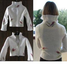 White seamless felt jacket