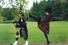 fakingfashion: Vogue US September 1991 | A Shot of Scotch | Arthur Elgort