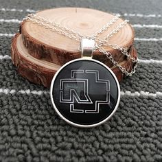 Rock band Rammstein glass necklace chain dome round fashion pendant retro logo Time Gem lass necklace charms pendant LY24
