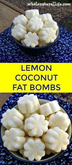 Coconut oil fat bombs | Lemon fat bombs | Low carb fat bombs | Easy fat bombs