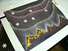 Mama G's Big Crafty Blog: Northern Lights Art Lesson