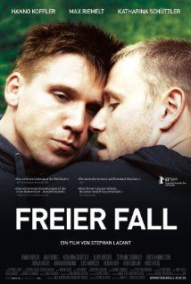 Freier Fall - Directed by Stephan Lacant  - Produced by Daniel Reich Christoph Holthof-Keim -Written by Karsten Dahlem Stephan Lacant  -Starring Hanno Koffler Max Riemelt Katharina Schüttler Oliver Bröcker  Stephanie Schönfeld Britta Hammelstein  Shenja Lacher - Music by Dürbeck & Dohmen  - Cinematography Sten Mende - Edited by Monika Schindler - Country Germany - Read more: http://en.wikipedia.org/wiki/Freier_Fall_(film)