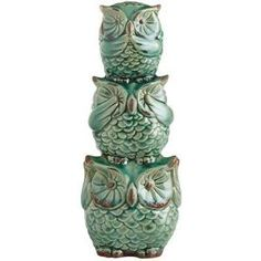 Hear, See & Speak No Evil Owl Bank Pinned by www.myowlbarn.com by rosalinda