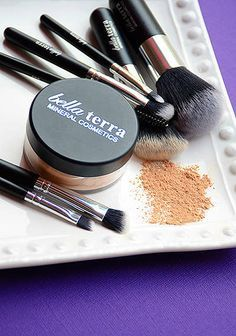 Bella Terra Mineral Cosmetics with super-soft, specialized brushes.