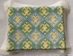 Medieval Arts & Crafts - Brick Stitch pattern, bargello needdlepoint