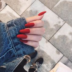 A manicure is a cosmetic elegance therapy for the finger nails and hands. A manicure could deal with just the hands, just the nails, or Perfect Nails, Gorgeous Nails, Pretty Nails, Cute Red Nails, Minimalist Nails, Cute Acrylic Nails, Nagel Gel, Nail Arts, Long Nails