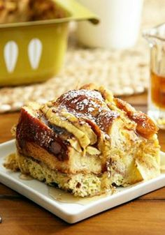 Whip up this delectable French Toast Bread Pudding dish for breakfast or brunch.