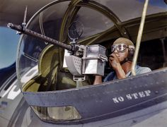 Consolidated PBY Catalina Flying Boat Blister Gunner: 1942 by amphalon, via Flickr