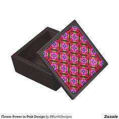 Flower Power in Pink Design Keepsake Box