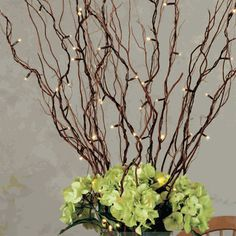 battery operated led lights on willow branch