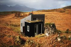 Pig Rock Bothy and Inshriach Bothy are two of the handcrafted structures that inspire artists who use it a residency spaces. Tagged: Exterior, Cabin Building Type, Green Roof Material, Shed RoofLine, Wood Siding Material, and Tiny Home Building Type.  Photo 8 of 20 in 10 Adorable Tiny Homes You Can Rent Right Now