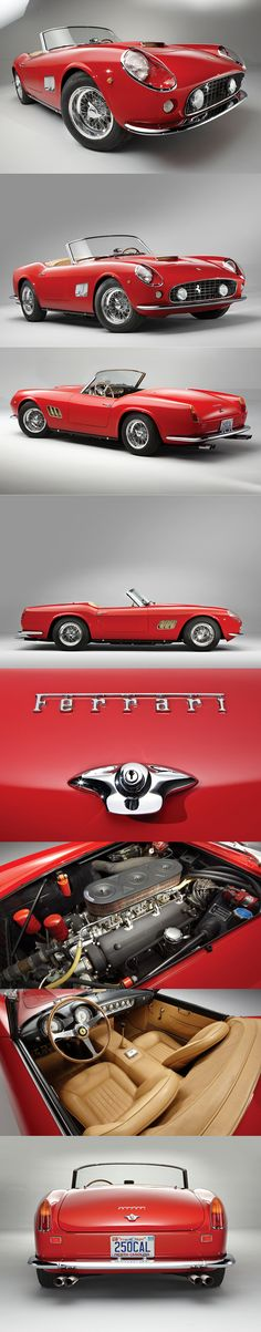 The Ferrari California was unveiled at the 2008 Paris Motor Show. The car went into production in 2008 and is still being produced by Ferrari. Vintage Sports Cars, Exotic Sports Cars, Classic Sports Cars, Retro Cars, Vintage Cars, Antique Cars, Hot Rods, Automobile, Ferrari Car
