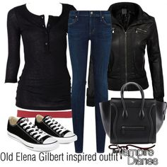 Old Elena Gilbert inspired outfit/TVD by tvdsarahmichele on Polyvore featuring maurices, Citizens of Humanity and Converse