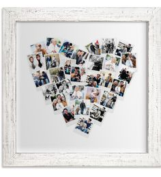 Valentine iPhone Gifts for Her: Heart Snapshot Mix Custom Photography Wall Artwork @ Minted