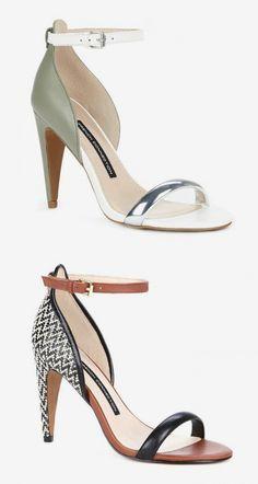 Minimalist, sexy high heeled sandals