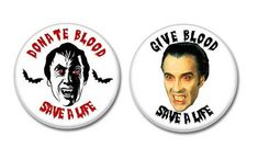 Donate Blood Save A Life / Medical Alert Buttons.  #buttons #badges #christopherlee