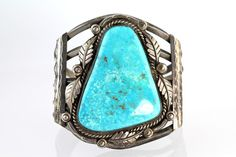 Sterling Silver Turquoise Bracelet by Navajo Ben Chapo – Yourgreatfinds