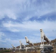 Delos , the Sacred Island with the famous Terrace of  the Naxian Lions , end of 7th century BC