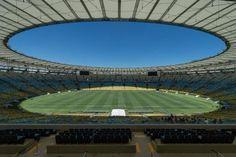 "BRAZIL, Rio de Janeiro : General view of Mario Filho ""Maracana"" stadium in Rio de Janeiro, Brazil on February 6, 2014. The Maracana stadium will host FIFA World Cup Brazil 2014 matches. AFP PHOTO / YASUYOSHI CHIBA"