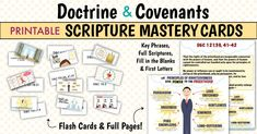Doctrine & Covenants Scripture Mastery Cards & Posters (and June discount) - The Redheaded Hostess