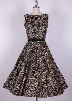 50s Audrey Hepburn Leopard Dress Size XS S M L XL 1X X 3X 4X Pinup Swing | eBay